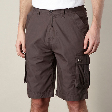 Maine New England - Grey plain cargo shorts