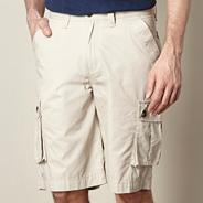 Natural plain cargo shorts