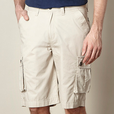 Maine New England - Big and tall natural plain cargo shorts