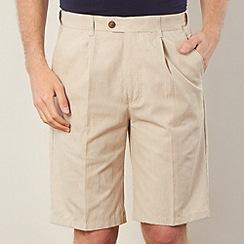 Maine New England - Big and tall natural pinstripe chino shorts