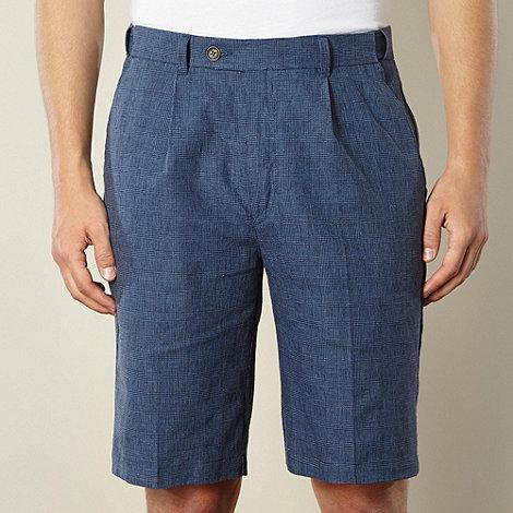Maine New England - Navy mini dogtooth checked shorts