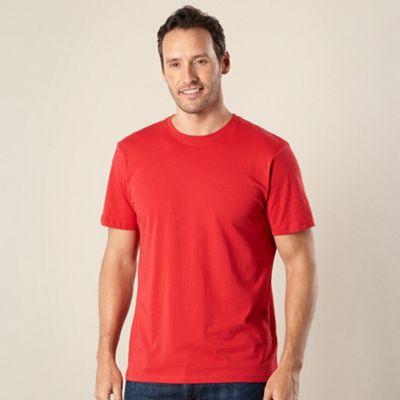 Big and tall dark peach plain crew neck t-shirt