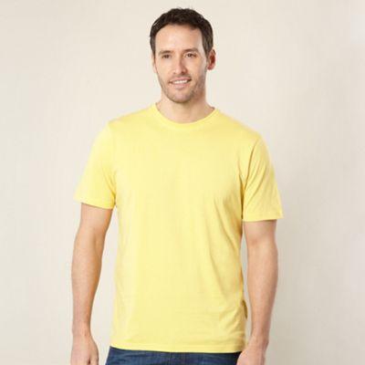 Yellow plain crew neck t-shirt
