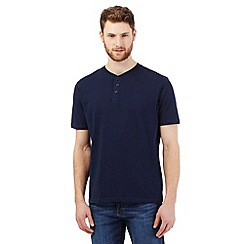 Maine New England - Big and tall navy henley t-shirt