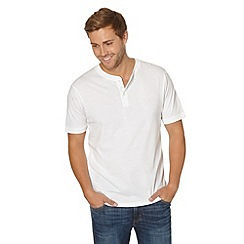 Maine New England - Big and tall white henley t-shirt