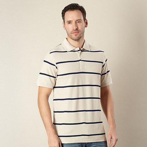 Maine New England - Natural striped polo shirt