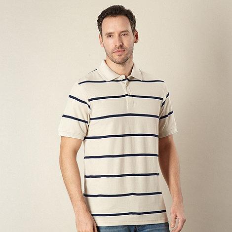 Maine New England - Natural striped polo shirt