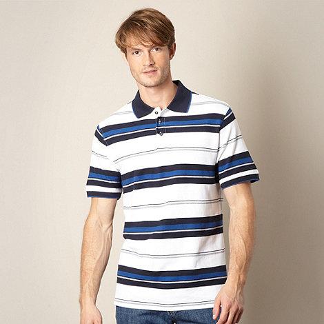 Maine New England - White multi striped polo shirt
