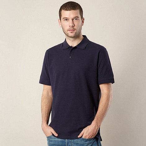 Maine New England - Big and tall navy plain pique polo shirt