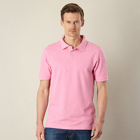 Maine New England - Big and tall bright pink plain pique polo shirt