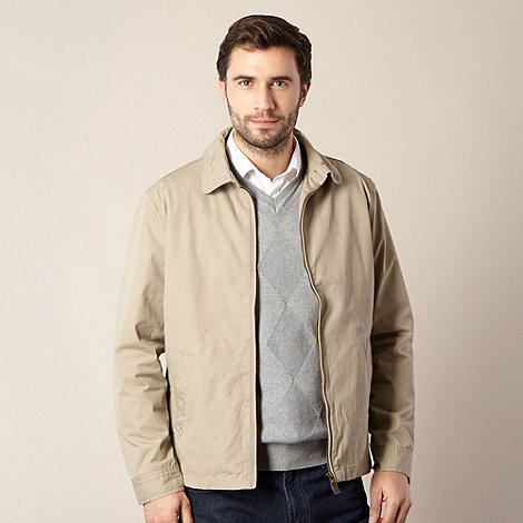 Maine New England - Big and tall cream harrington jacket