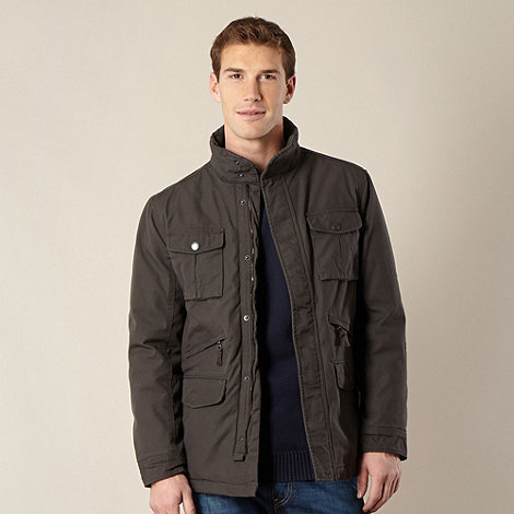 Maine New England - Brown Textured Cotton 4 Pocket Jacket