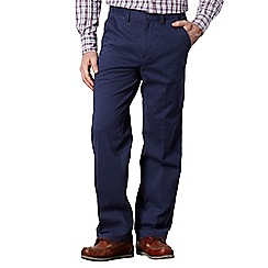 Maine New England - Big and tall dark blue twill straight leg chinos