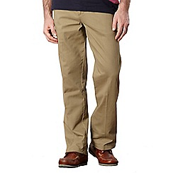 Maine New England - Big and tall light tan classic chinos