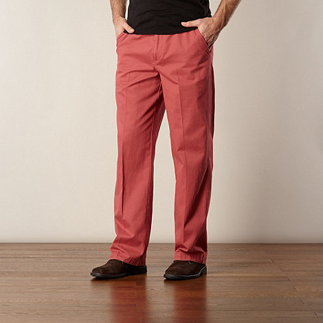 Maine New England - Big and tall terracotta twill straight leg chinos