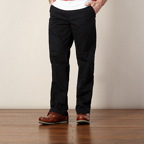Maine New England - Black herringbone straight leg chinos