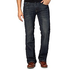 Maine New England - Big and tall dark blue bootcut dark wash jeans