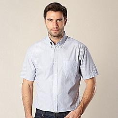 Maine New England - Light blue striped short sleeved shirt