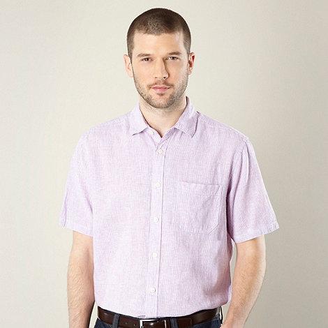 Maine New England - Big and tall pink fine striped linen blend shirt