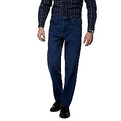 Maine New England - Big and tall blue mid wash regular fit jeans