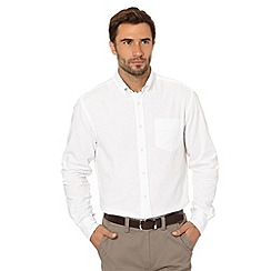 Maine New England - Big and tall white button down oxford shirt