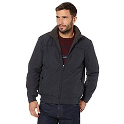 Maine New England - Big and tall navy shower resistant zip through jacket