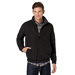 Maine New England - Big and tall black reversible funnel neck jacket