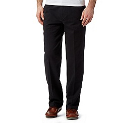 Maine New England - Big and tall black regular fit chinos