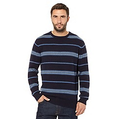 Maine New England - Navy fine striped jumper