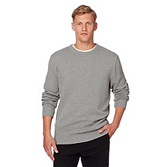 Maine New England - Grey plain crew neck jumper