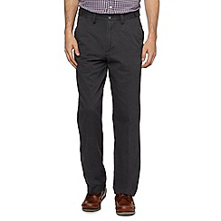 Maine New England - Big and tall dark grey straight leg chinos