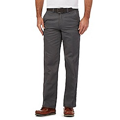 Maine New England - Big and tall grey belted chino