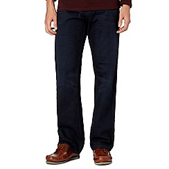 Maine New England - Big and tall dark blue raw regular fit jeans