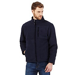 Maine New England - Navy borg lined zip thru fleece