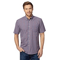 Maine New England - Big and tall navy nautical gingham checked shirt