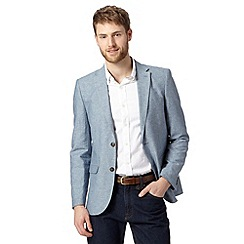 Maine New England - Blue subtle striped blazer