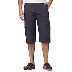 Maine New England - Light navy three quarter bedford shorts