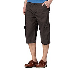 Maine New England - Grey three quarter bedford shorts