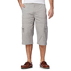 Maine New England - Big and tall light grey three quarter bedford shorts