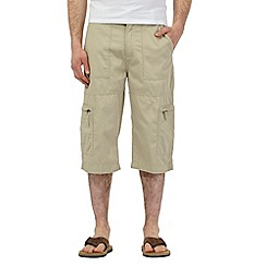 Maine New England - Big and tall natural three quarter bedford shorts