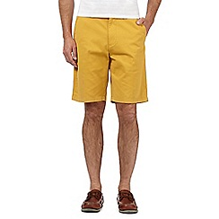 Maine New England - Big and tall mustard washed chino shorts