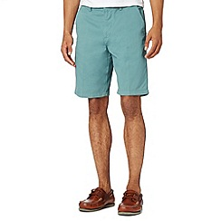 Maine New England - Big and tall aqua washed chino shorts
