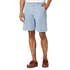 Maine New England - Big and tall pale blue washed chino shorts