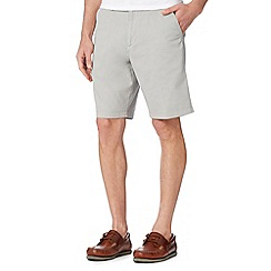 Maine New England - Big and tall light grey washed chino shorts