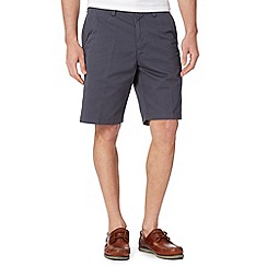 Maine New England - Big and tall dark grey washed chino shorts