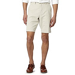 Maine New England - Big and tall off white washed chino shorts