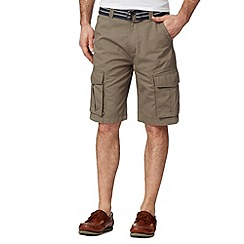 Maine New England - Big and tall khaki three quarter length shorts