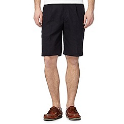 Maine New England - Navy linen blend chino shorts