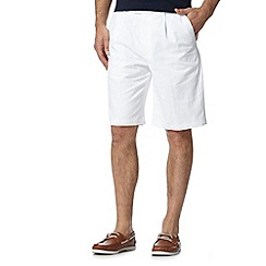 Maine New England - Big and tall white plain chino shorts