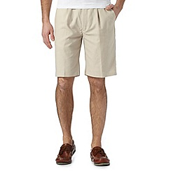 Maine New England - Big and tall natural linen blend chino shorts